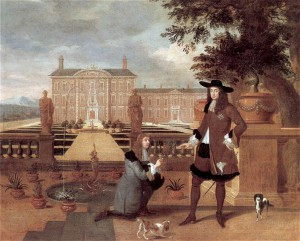 A seventeenth-century painting of King Charles II receiving the first pineapple ever to be grown in Britain from his gardener. The depiction of the scene is a reflection of just how important an event it was.