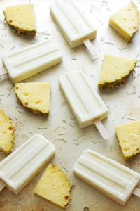 Pineapple Coconut Yogurt Pops