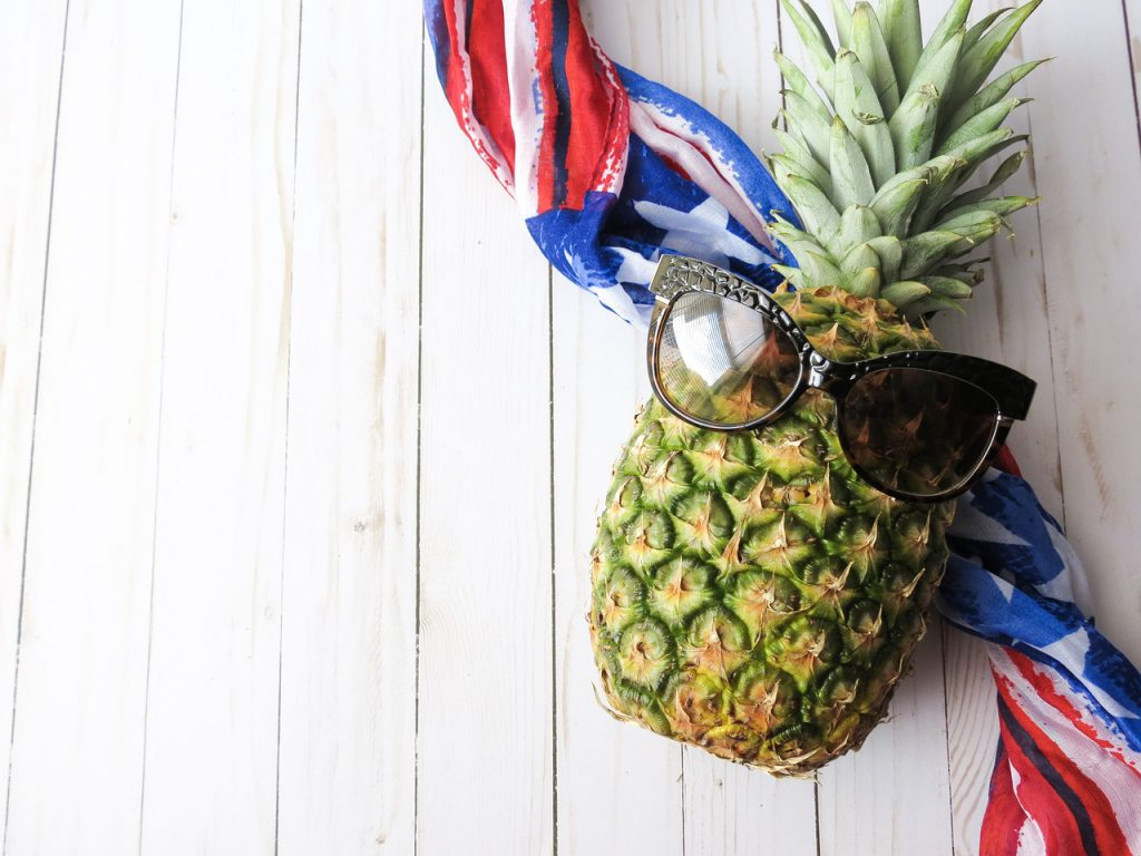 Fourth of July Grilled Pineapple