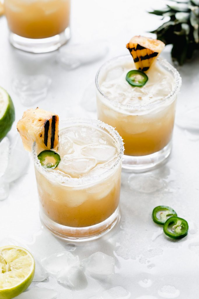 Fourth of July Grilled Pineapple Margaritas