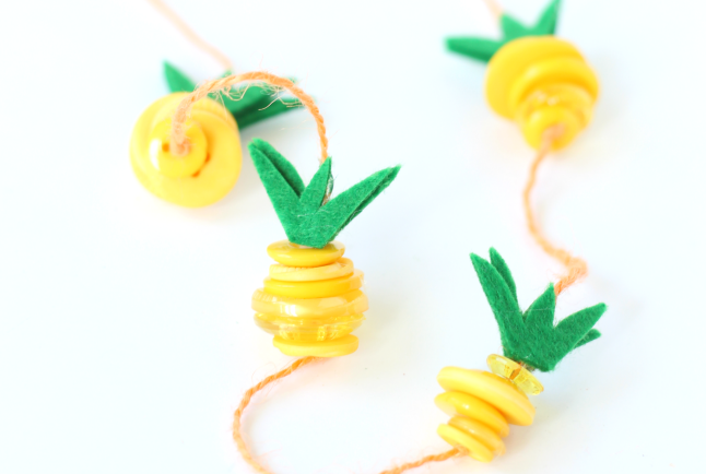 pineapple crafts necklace