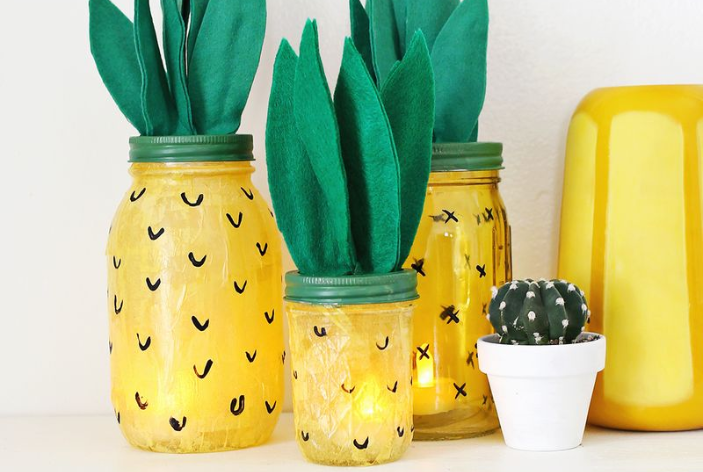 kid-friendly pineapple crafts nightlight
