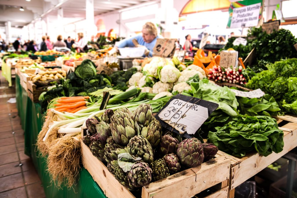 National Fruits and Veggies Month Veggie Stand