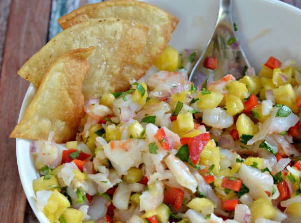 pineapple and shrimp salsa