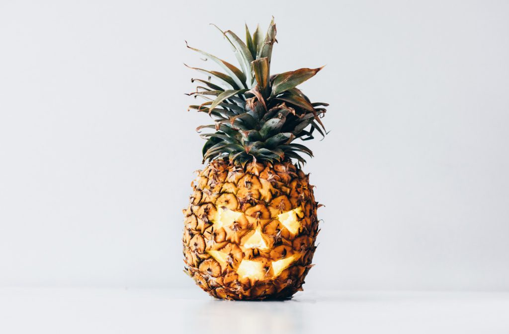 Halloween Pineapple Carving