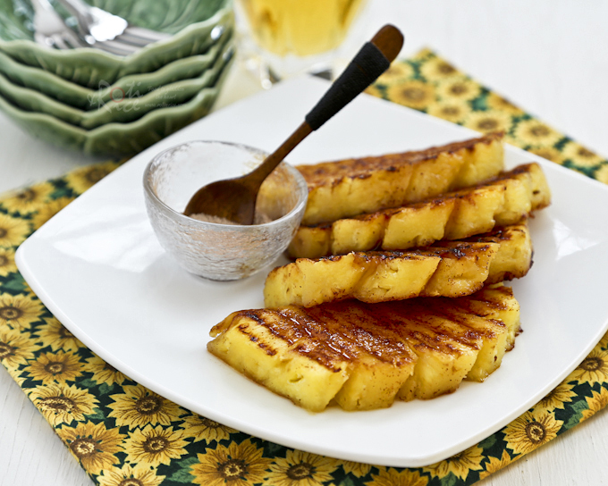 cinnamon roasted pineapple