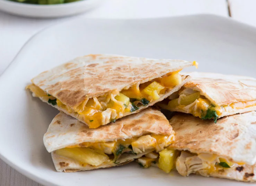 Pineapple chicken quesadillas