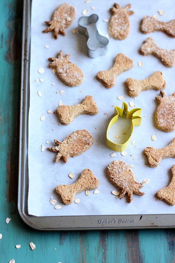 pineapple dog cookies
