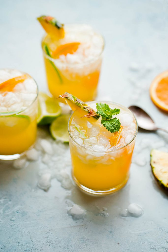 pineapple rum ginger beer cocktail