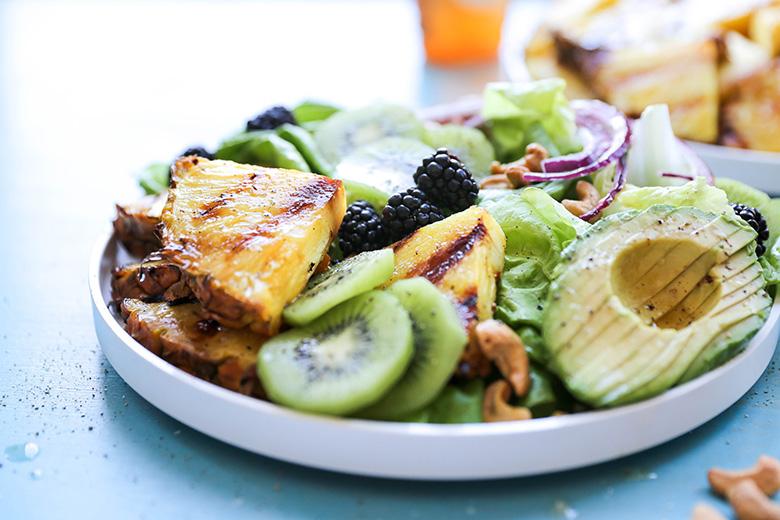 charred pineapple salad
