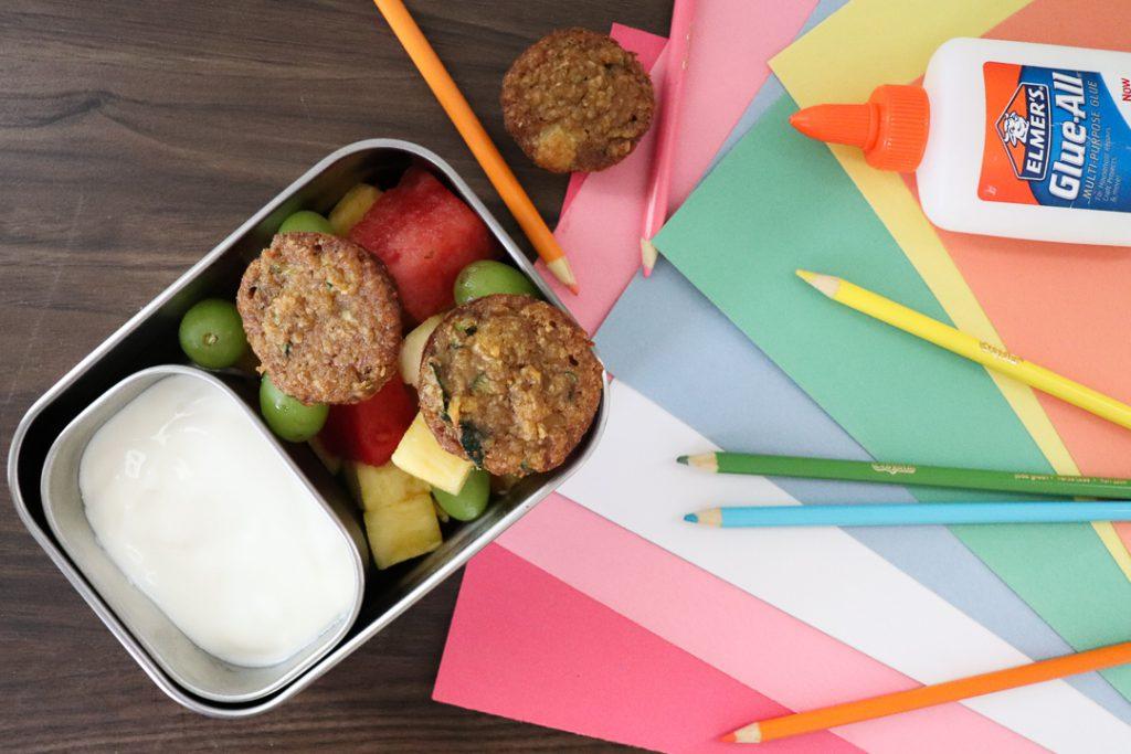 pineapple zucchini mini muffins back to school
