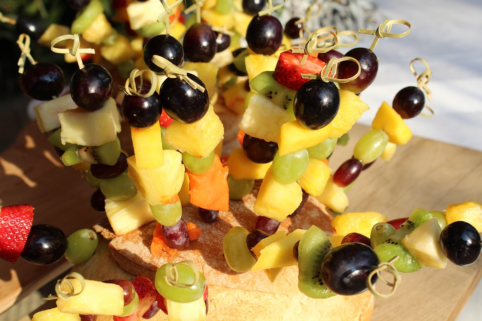 pumpkin fruit skewer