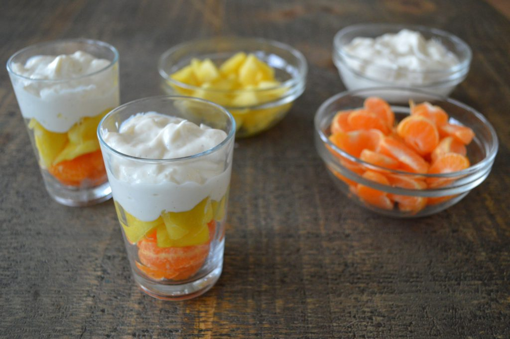 pineapple orange fruit parfait
