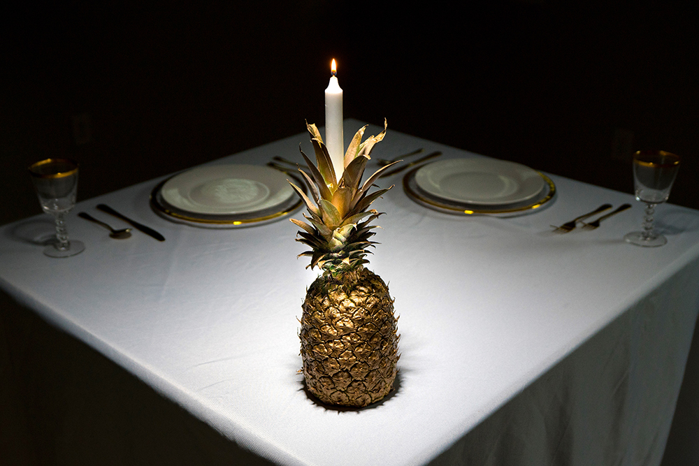 Pineapple Holiday Centerpiece Decor